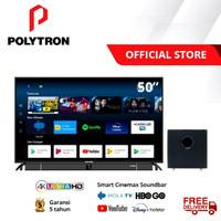 Led Tv 50 Inch Polytron 50BUA8859 Smart Mola 4k Uhd Tv