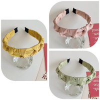 "Bando Korea Wanita Bandana Headband Simpul Wide Plaid Hair Cute ""ORION"