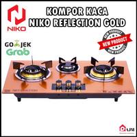 Niko Reflection Gold 3.0 Kompor Gas Tampered Glass pematik Otomatis