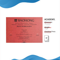 Kertas Cat Air Baohong Artists 18x12.5cm Hot Pressed Watercolor Pad