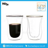 Gelas Double Wall 260ml 2 Pcs Glass Winox / Model B