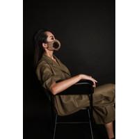Jkusno x TORENDA fashion designer Mask Brown