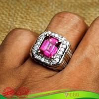 Cincin Batu Natural Pink Topaz Asli Original