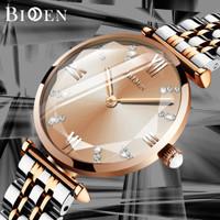 BIDEN jam tangan wanita Anggun Mode Tali stainless steel Tahan Air Jam