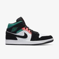 Nike Air Jordan 1 Mid SE South Beach Black Neptune Green ORIGINAL BNIB - 42.5