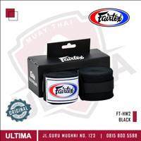 Fairtex MuayThai Boxing Handwrap - Elastic - Hitam