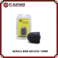 Keyless Drill Chuck Kepala Mesin Bor 10mm 3/8 Tanpa Kunci