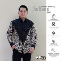 fillea kemeja batik Sultane panjang puring solo baju kerja murah