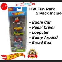 Hotwheels Gift Pack HW Fun Park Hot Wheels 5 Pack