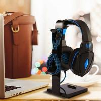 Stand Headset Gaming Hanger Holder Meja Headphone Portable Murah - Hitam