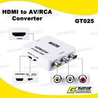 HDMi To AV RCA Converter Adapter Mini HDMI2AV FULL HD 1080P GT025 - Tanpa Bubble