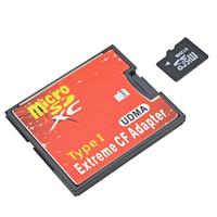 Converter Micro SD jadi Compact Flash Card Extreme CF Adapter TF SDXC