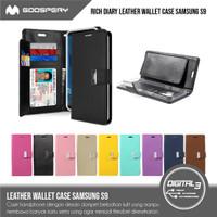 Original Mercury GOOSPERY Rich Diary Wallet Case For Samsung Galaxy S9
