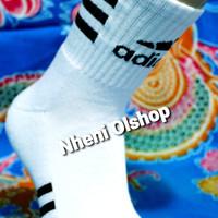 kaos kaki sport adidas tebal / angkle sport adidas thermal - Putih