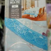 limited edition taplak meja makan plastik (MONARY) - Biru