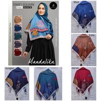 hijab jilbab kerudung segi empat jumbo motif mandalika syari D5