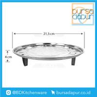 Steamer Plate Stainless Dengan Kaki / Sarangan / Kukusan 22 cm