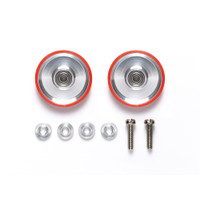 17mm Aluminum BR Rollers (Dish Type) w/Plastic Rings (Red) -95580