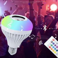 Bohlam Speaker Musik Bluetooth 2 in 1 - Lampu Speaker LED - WARNI