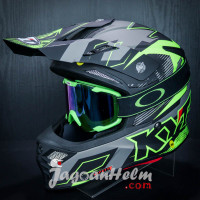 KYT HELM CROSS SKY HAWK DIGGER | MATT GREY YELLOW | + KACAMATA GOGGLE