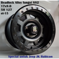 velg Beadlock Alloy Dirty RMC 17 x 9.0 5H 127 et-15 Jeep Jk Rubicon