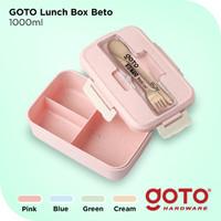 Goto Beto Kotak Tempat Makan Lunch Box Set Free Sendok Garpu