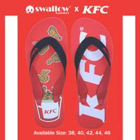 SANDAL SWALLOW X KFC TYPE BUCKET - MERAH