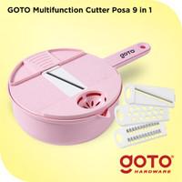 Goto Posa 9 In 1 Multifunction Cutter Pemotong Parutan Buah Sayur