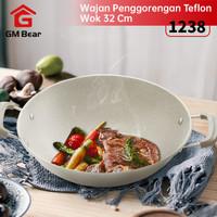 GM Bear Wajan Penggorengan Teflon 32cm 1238-Cooking Pan 32cm