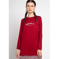 Third Day LTC13 mls tdco merah maroon kaos tangan panjang hijab