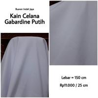 Kain Celana Gabardine Warna Putih