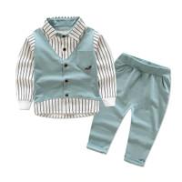 Setelan Kemeja Anak Laki Laki Dengan Vest GREEN