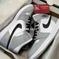 Nike Air Jordan 1 Mid Light Smoke Grey ORIGINAL MATERIAL GUARANTEE