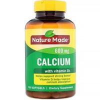 sale nature Made calcium 600mg kalsium vit D3