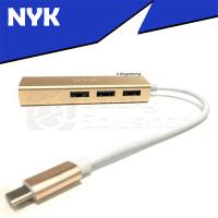 NYK USB Type-C To LAN HUB Adapter - 3 USB Port + 1 LAN Ethernet Port