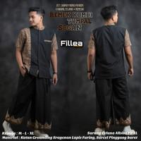 Fillea Remek kombi Sarcel setelan batik solo alusan baju ibadah murah
