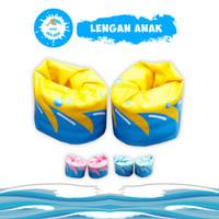 Pelampung Lengan Anak Busa Renang Anti Bocor - KIDDIE SPLASH Original - Yellow Shark
