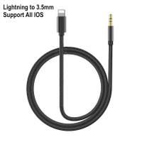 Aux Cable Lightning to 3.5mm Nylon Braid Support All iphone IOS
