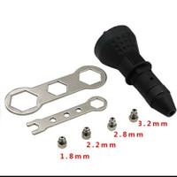 adapter tang rivet adaptor bor tembakan paku rivet tang rivet listrik