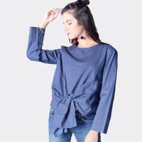 Blouse Wanita / Cloi Navy Shirt 24490D5NA - Ninety Degrees