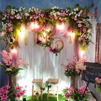 sewa dekorasi backdrop/photobooth lamaran,wedding 2.2meter