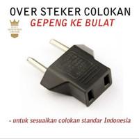 Over Steker/Adaptor Colokan sambungan Listrik Gepeng ke Bulat