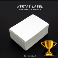 LABEL THERMAL 100 X 150 CM ISI 500 PCS KERTAS STICKER RESI TOKO ONLINE