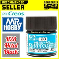 H28 Metal Black Aqueous Water Based Acrylic Paint Mr Hobby Original