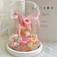 Unicorn Pink Flower - Bunga Box Her Rose by Her Jewellery