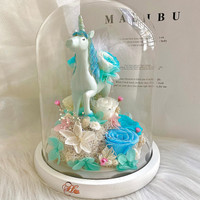 Blue Unicorn Flower - Bunga Box Her Rose by Her Jewellery