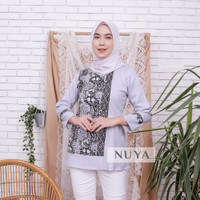 fashion wanita batik blouse modern ADALINE BLOUSE by NUYA OUTFIT