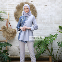 fashion wanita batik blouse modern MONA BLOUSE by NUYA OUTFIT