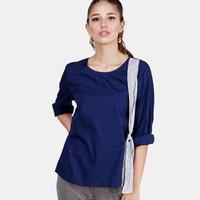 Blouse Wanita / Claribel Navy Shirt 24537D5NA - Ninety Degrees