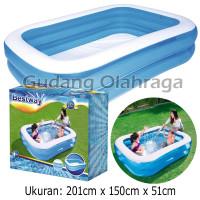 Kolam Renang Anak 201cm / Bestway 54005 Blue Rectangular Family Pool